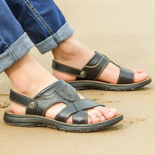 Caminar Al De Playa De Sandalias Agua Libre Black Abierta Zapatillas del Gran Tamaño Atléticas SHANLY De Hombres Zapatos De Chanclas Punta En Verano Aire Los Deslizamiento Piscina wTHA7xIq