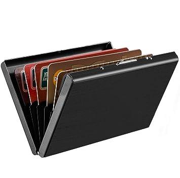 info for 803a6 a54bc SEPAL RFID Blocking 6 Slots Steel Credit Debit ATM Card Holder Case Wallet  Black