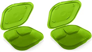 Preserve 2 Go BPA Free, Reusable Take Out Box/Food Storage Containers Made from Recycled Plastic in the USA, Set of 2, Apple Green
