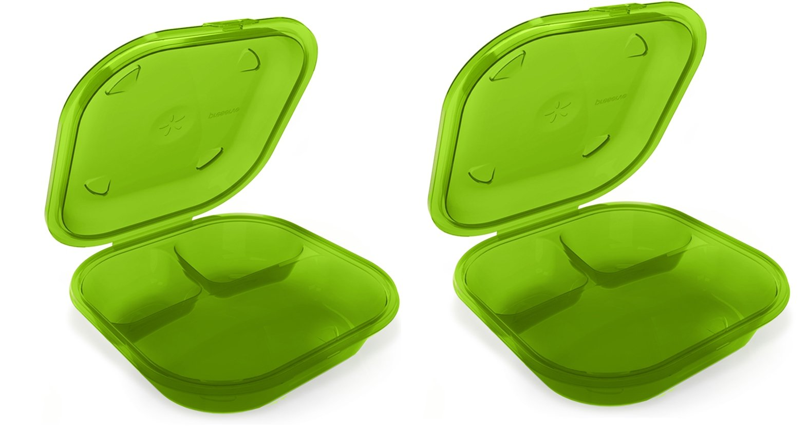 Preserve 2 Go BPA-Free, Reusable Take Out Box/Food Storage Containers (Set of 2), Apple Green by Preserve