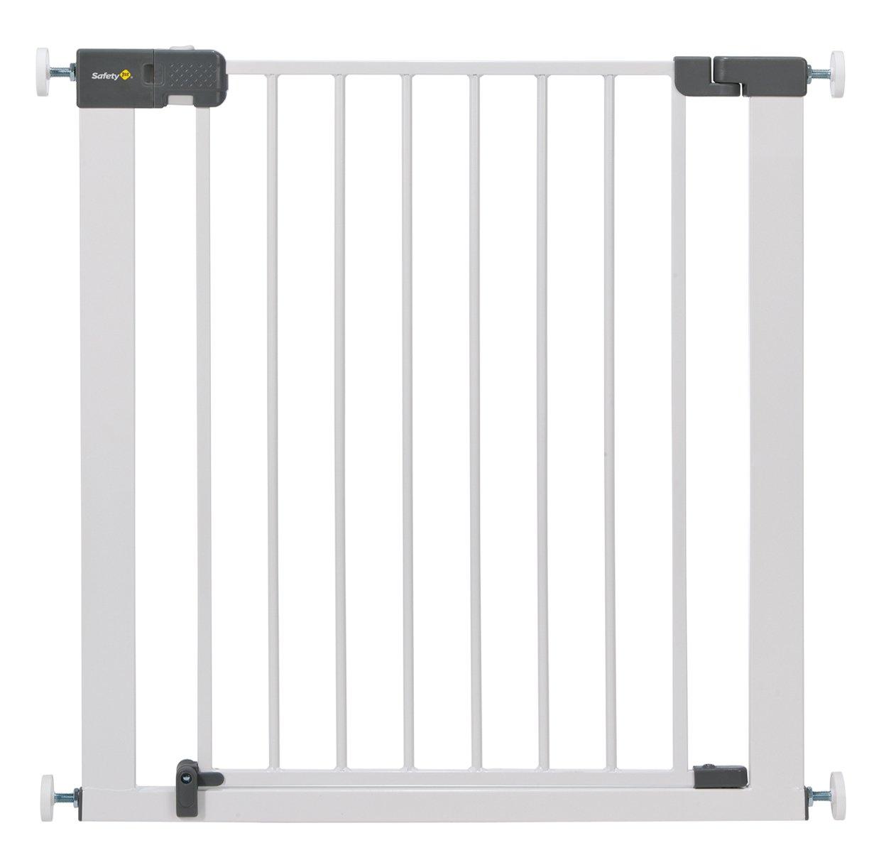 Safety 1st Quick Close Plus Treppenschutzgitter, extra sicheres Metall, Türschutzgitter zum Klemmen, weiß, bis 136 cm verlängerbar weiß bis 136 cm verlängerbar 24204314