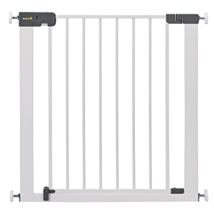 Puerta de seguridad con reja para escaleras Quick Close Plus de Safety 1st, metal extraseguro