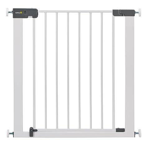 Safety 1st Quick Close Plus Treppenschutzgitter, extra sicheres Metall, Türschutzgitter zum Klemmen, weiß, bis 136 cm verläng
