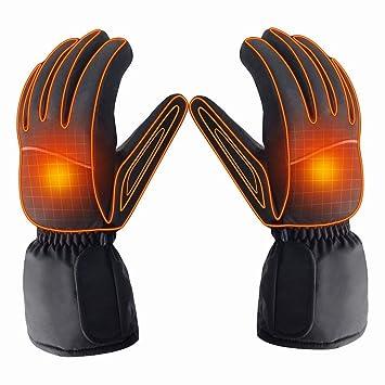 Camping & Outdoor Elektrisch beheizbare Handschuhe Gr S beheizt batteriebetrieben Winter Thermo Handschuhe