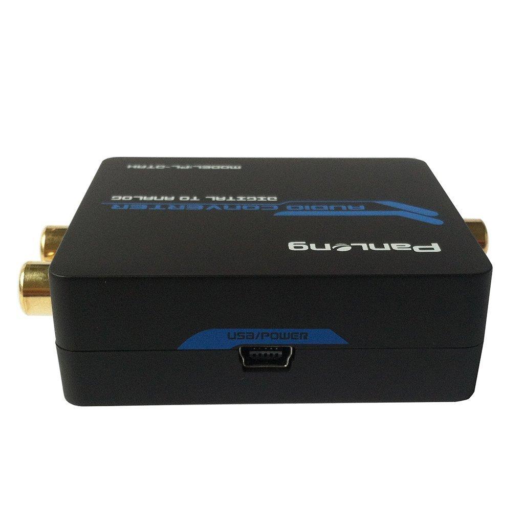Panlong Digital a analógico convertidor de audio digital óptico Toslink/SPDIF o coaxial entradas a l/r RCA y 3,5 mm Jack productos: Amazon.es: Electrónica