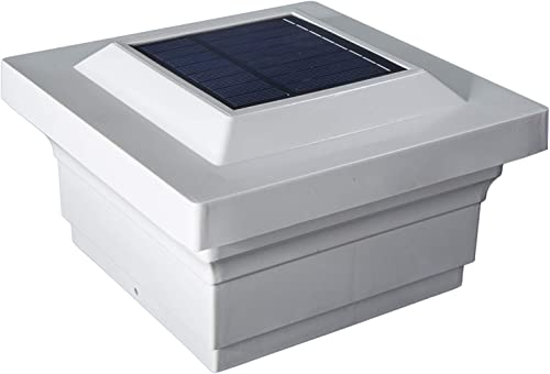 Classy Caps SL075W 5X5 White PVC Majestic Solar Post Cap, 5 x 5