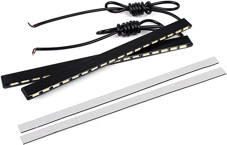 Itimo 2/pcs 7030/Auto DRL /étanche Bande LED Feux de Jour SMD Super Bright 18/LED de Voiture Style Bo/îtier en Aluminium lumi/ère du Jour