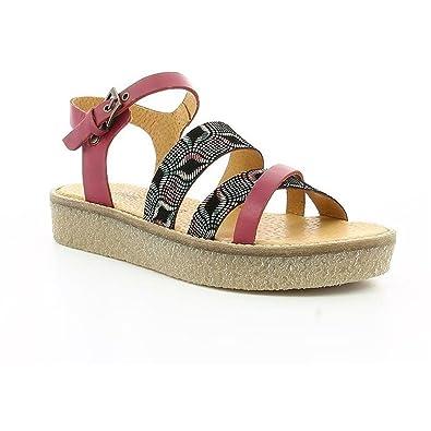 Kickers 609480 bordeaux - Chaussures Sandale Femme