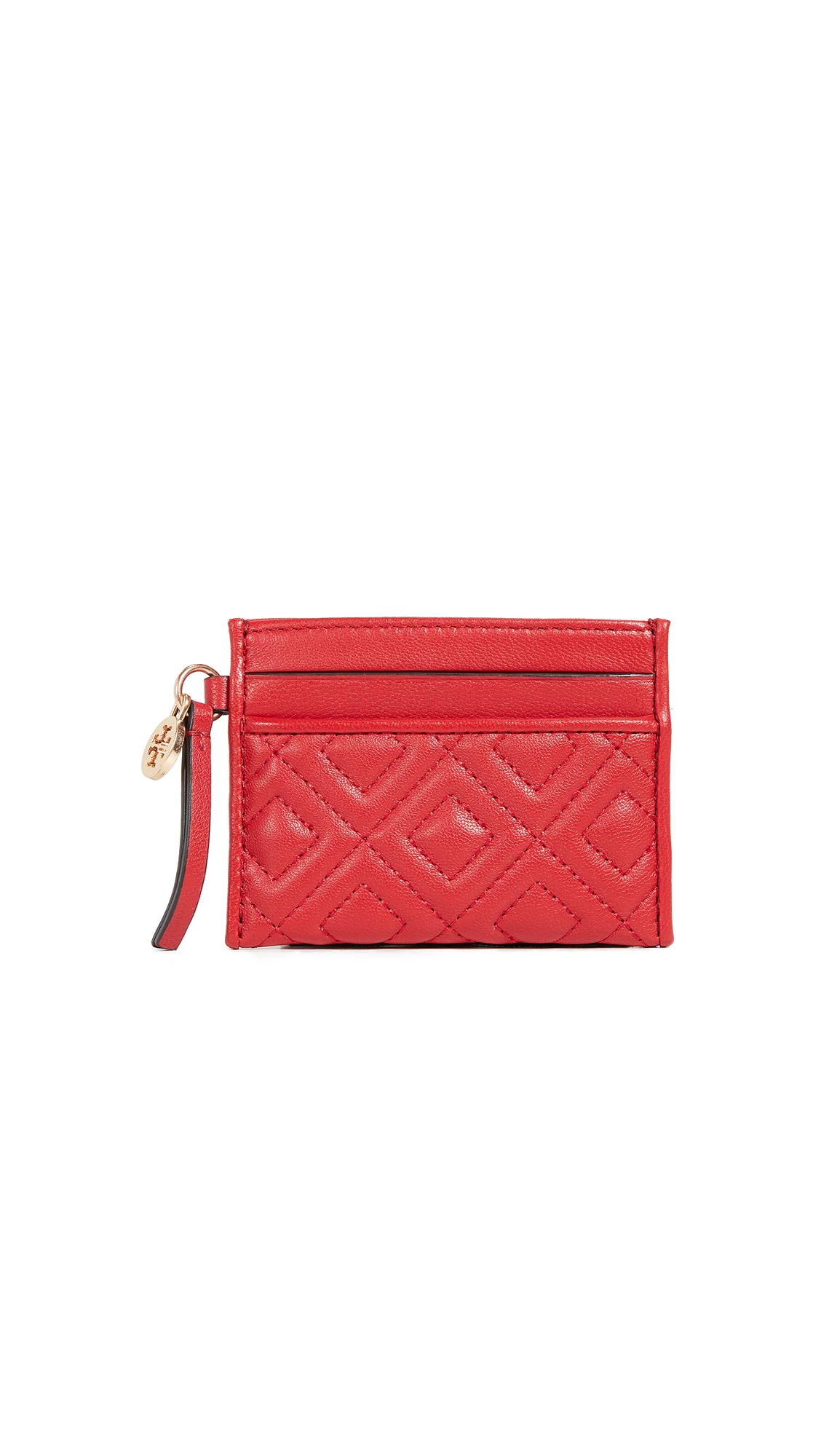 Tory Burch Women's Fleming Slim Card Case, Brilliant Red, One Size