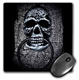 3dRose WhiteOaks Halloween Skulls - Skull Door Knocker design for Halloween - MousePad