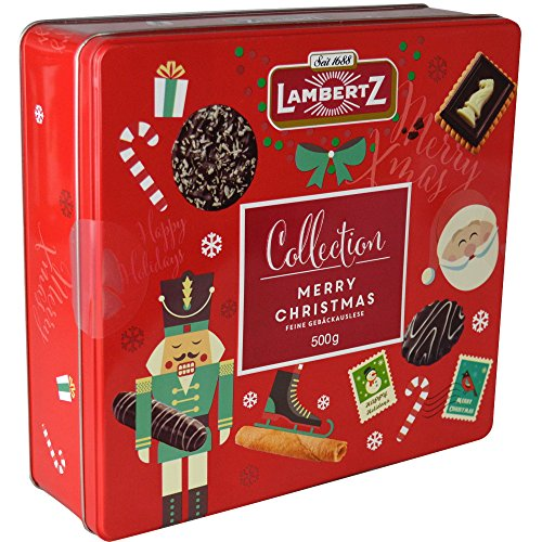 Lambertz Merry Christmas Tin Collection 500g Christmas Cookies