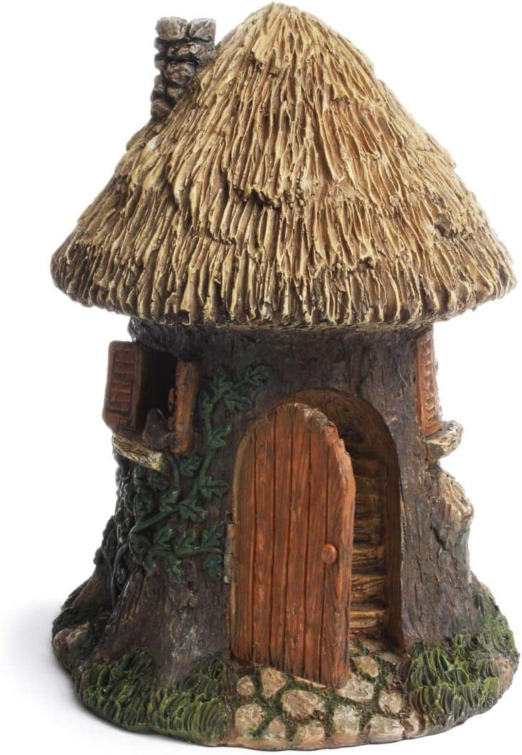 TG,LLC Treasure Gurus Elf Tree House Gnome Home Fairy Garden Ornament Dollhouse Decor