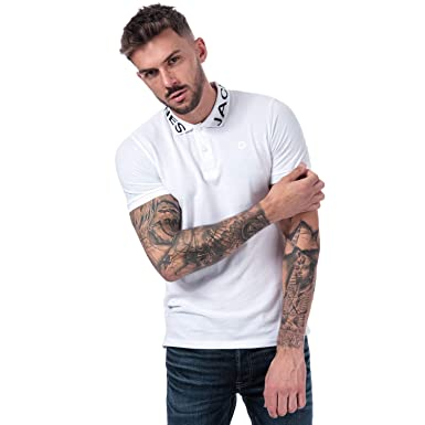 JACK & JONES Nick Polo para Hombre en Color Blanco, Manga Corta ...