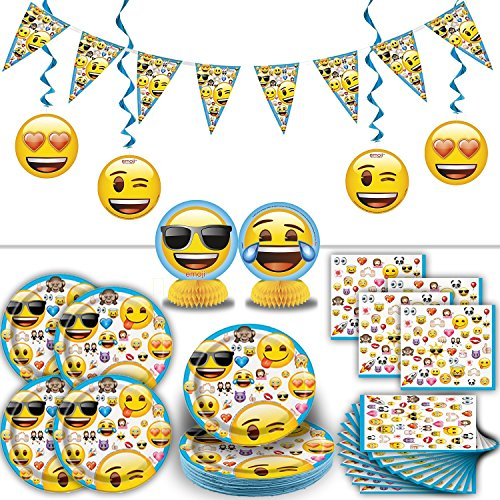 Emoji Party Supplies For 16 Includes Plates Napkins