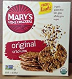 Mary's Gone Crackers Original Crackers, Gluten Free, Organic, Vegan, 12 Count/6.5 Ounce , Pack of 24