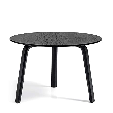 HAY Bella - Mesa auxiliar Ø 60cm oak black stained/Al. 39 cm ...