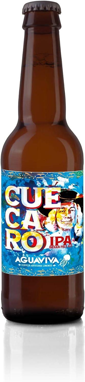 Cuécaro. Cerveza Artesana AGUAVIVA. Pack 12 botellines 33cl. Estilo IPA