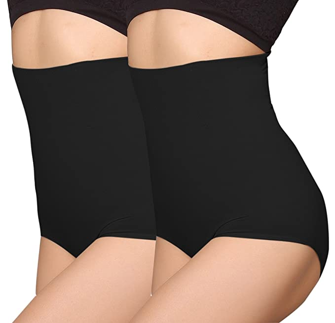 d85fb54af4ac5 iLoveSIA Women s Control Knickers with Waist Cincher Shapewear 2Pack UK 6  Black+Black Size XS