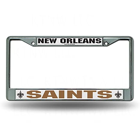 be2958d1b54 Image Unavailable. Image not available for. Color  New Orleans Saints  Chrome License Plate Frame ...