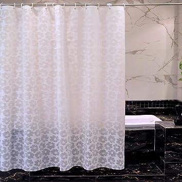 Cortina de ducha de color sólido del hotel translúcido para el cuarto de baño,Cortina