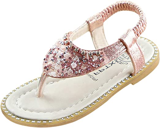 Toddler Sandals Infant Kids Baby Girls Pearl Crystal Single Princess Roman Shoes Sandals Memela