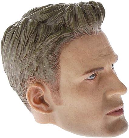 "1:6 Man Male Head Sculpt For 12/"" Hot Toys Phicen Action Figure Bodies"