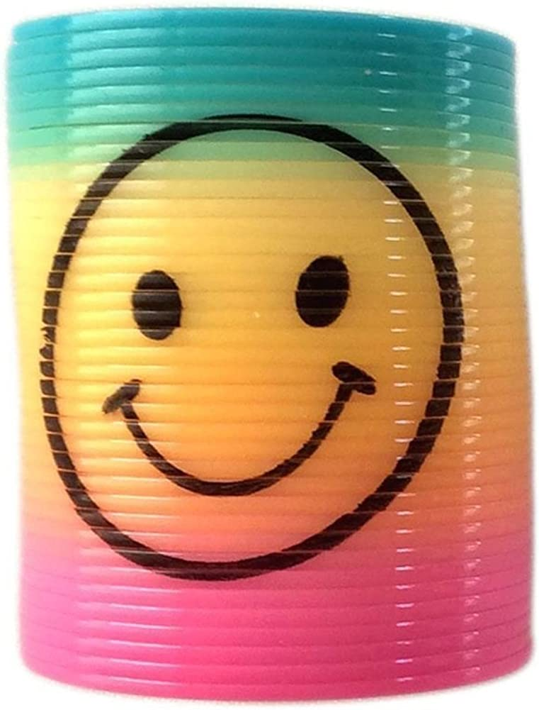 12 pack Slinky Smiley Mini Springs Pinata Party Bag Fillers Wedding Kids Toy