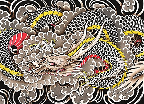 Dragons Wind by Clark North Traditional Japanese Asian Tattoo