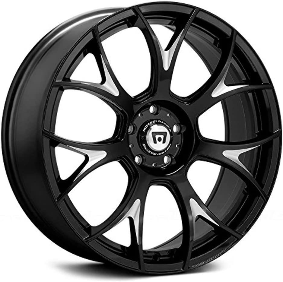 MOTEGI MR126 Gloss Black With Milled Accents Wheel with Painted 19 x 9.5 inches //0 x 57 mm, 32 mm Offset