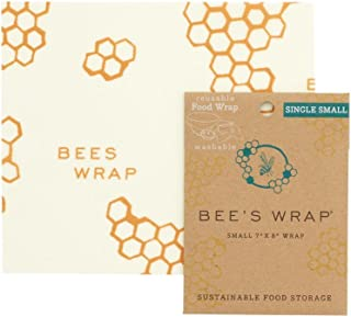 "product image for Bee's Wrap Small Single Pack, Eco Friendly Reusable Food Wraps, Sustainable Plastic Free Food Storage - 7"" x 8"""