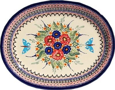 Polish Pottery Large Serving Platter Zaklady Ceramiczne Boleslawiec 1007-149art