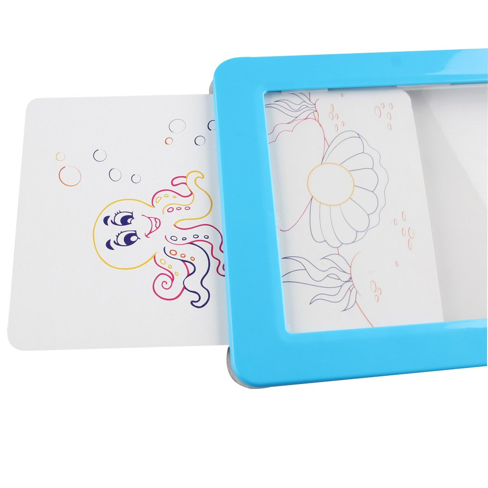 Blue AIPINQI Kids Tracing Tablet with Clear See-Through Writing Surface for Kids to Write and Draw Trace 12.8 inch