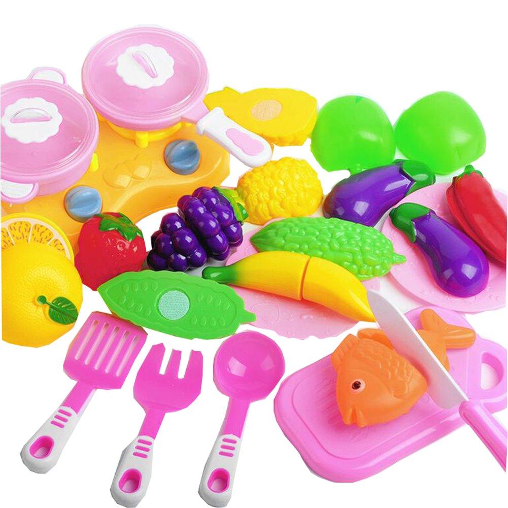 20 piezas de corte de la cocina de verduras de frutas Pretend Play Set juguetes educativos