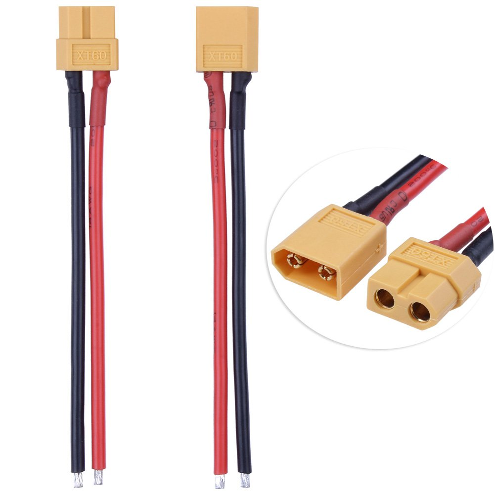 1 Pair HobbyPark XT60 Connector Male Female with 14AWG Silicone Wire Cable 3.9
