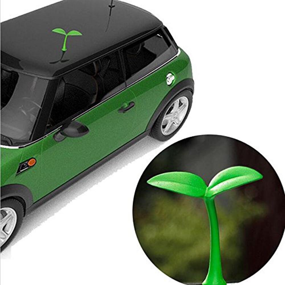 Bean Sprouts 1PCS Universal Lovely Creative 3D Car roof Grass Bean Sprouts Car Stickers Car roof 3D Sapling Car exterior Stickers