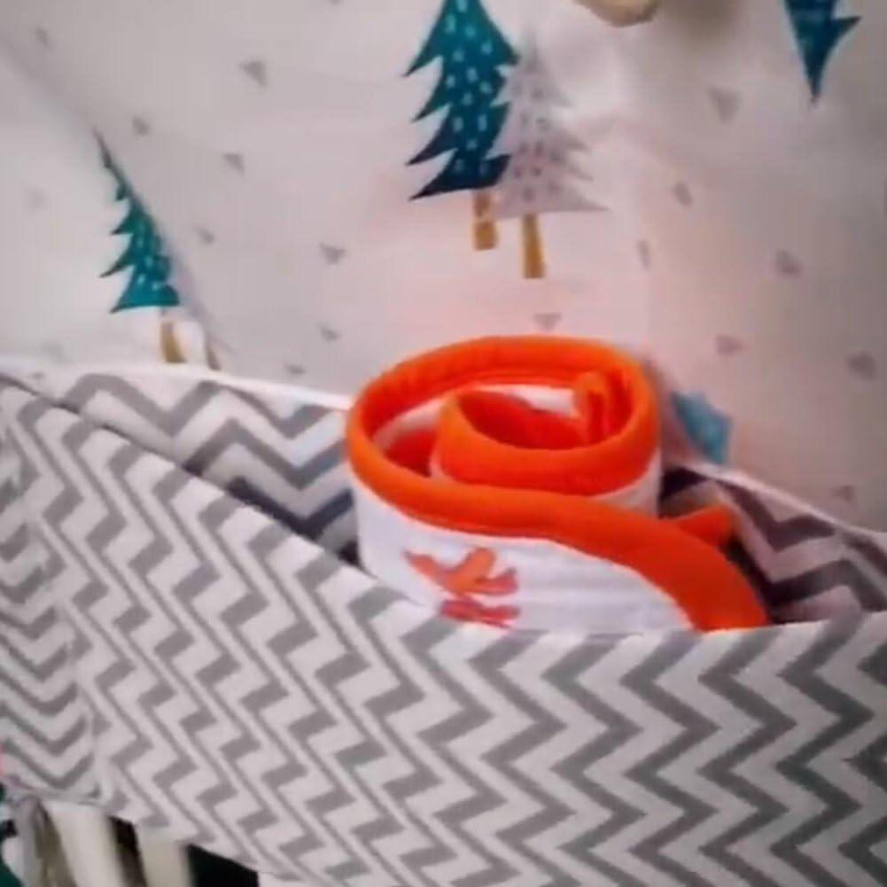 Organizador de pa/ñales para guarder/ía juguete para colgar y pa/ñales para beb/és reci/én nacidos bolsa multicapa negro Black Tree