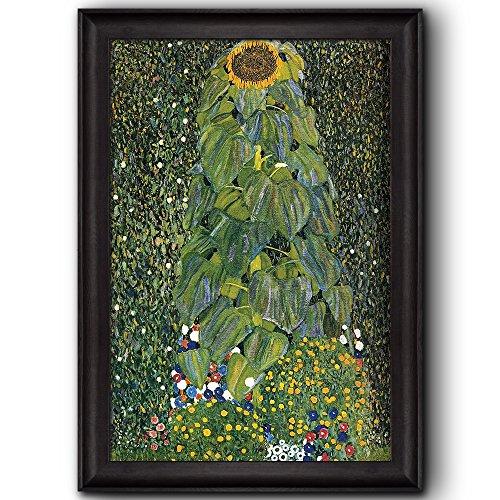 Sunflower by Gustav Klimt Framed Art