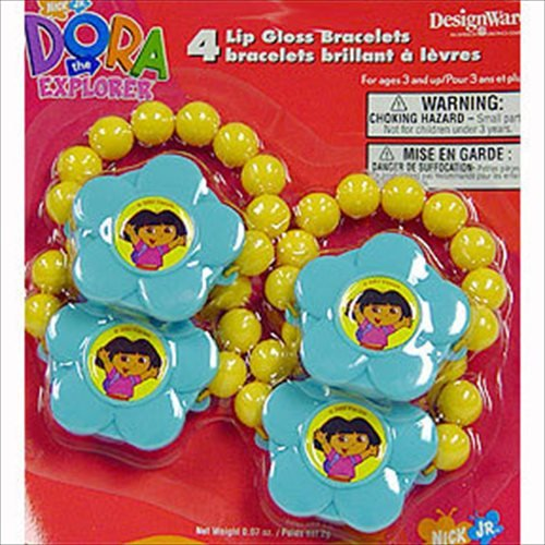 Dora the Explorer Lip Gloss Bracelets (4ct) (Dora The Explorer Costumes)