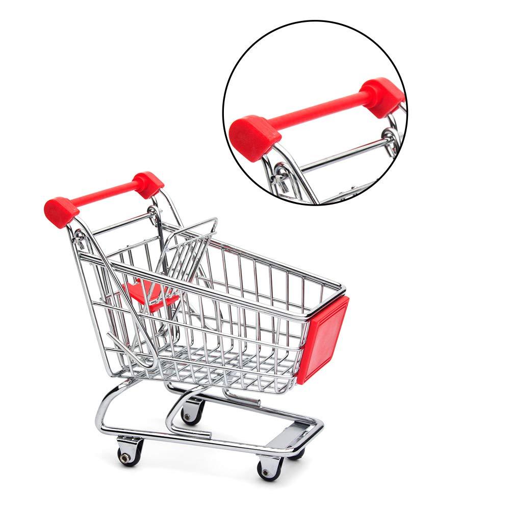 Mini Toy Shopping Cart Pen//Pencil//PostIt Holder Desk Accessory