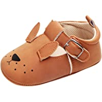 FITYLE Baby Animals Soft Sole Shoes Infant Boy Girl Toddler Moccasin Crib Shoes 0-18M - Puppy, 0-6M