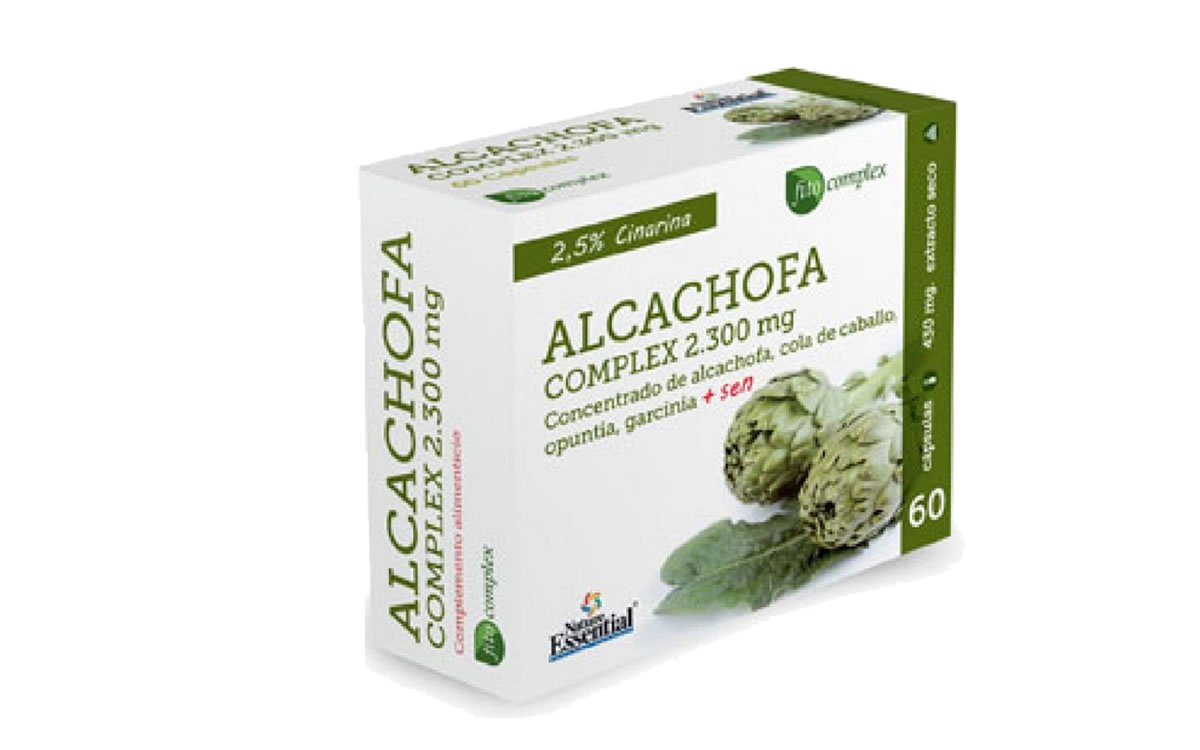 Alcachofa complex 2.300 mg 60 cápsulas con cola de caballo, opuntia, garcinia cambogia y sen: Amazon.es: Salud y cuidado personal