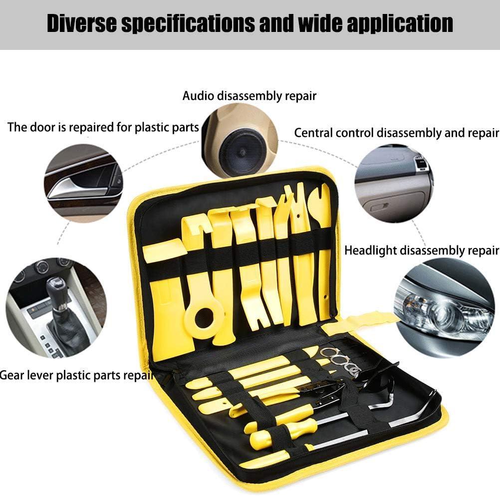 19 St/ück Removal Reparatur L/ösewerkzeuge Hebelwerkzeug zum Beschneiden von Fahrzeug//Audio//Radio//T/ürverkleidung QLOUNI Auto Demontage Werkzeuge Zierleistenkeile Set Ausbau Innen-Verkleidung