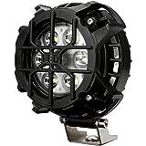 LED 作業灯 30W ブルー マーカー内蔵 4WD オフロード車のフォグランプや補助等に ストーンガード付き