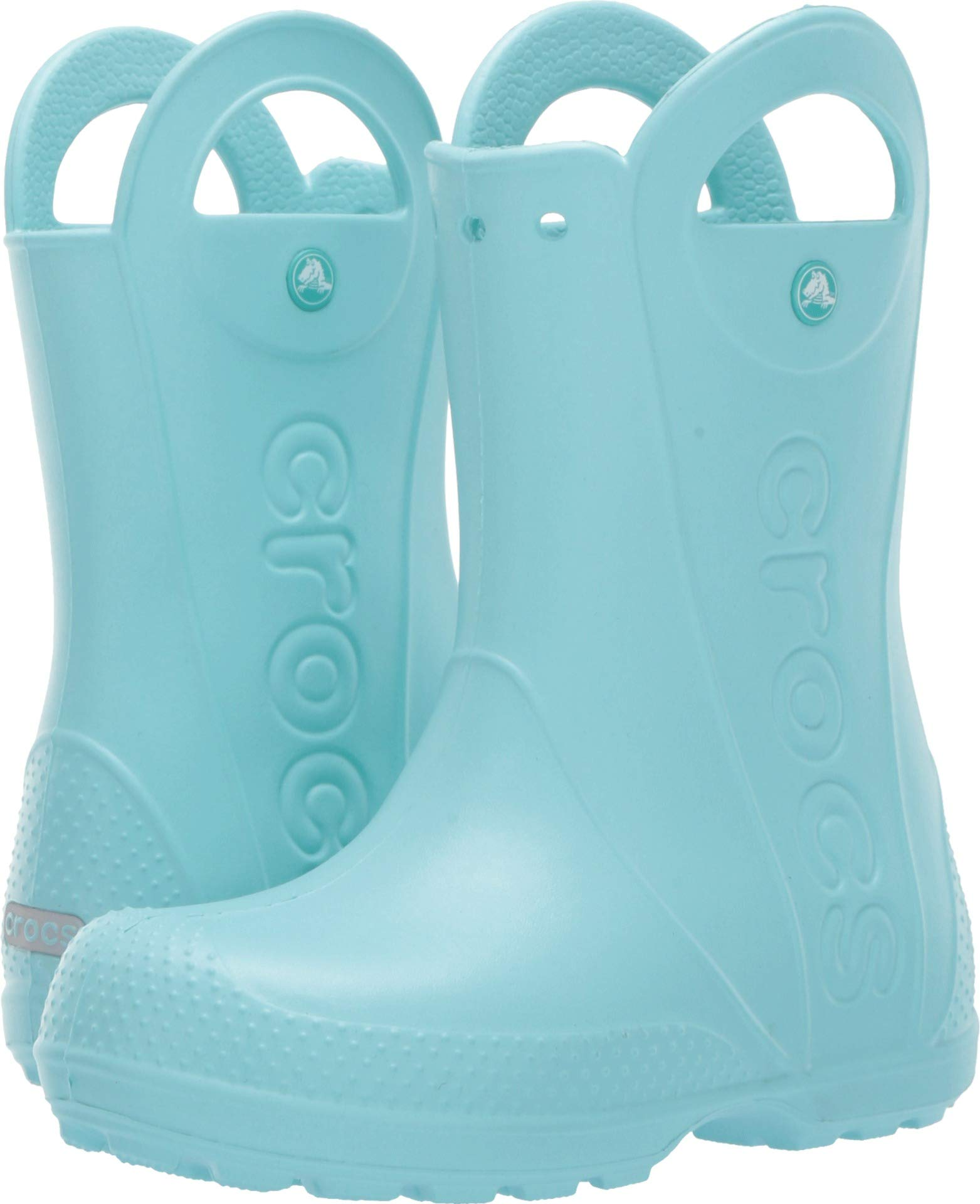 Crocs Kids' Handle It Rain Boot, ice blue, 10 M US Toddler