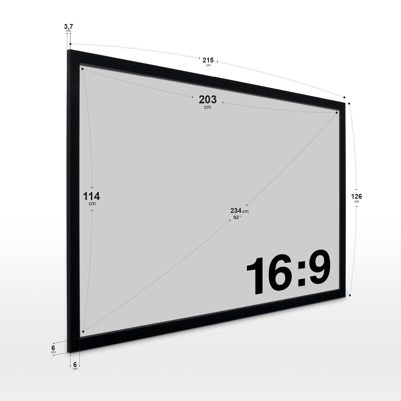 Projektor Leinwand Rahmen-leinwand 215 X126 Cm Beamer-leinwand Format 16:9