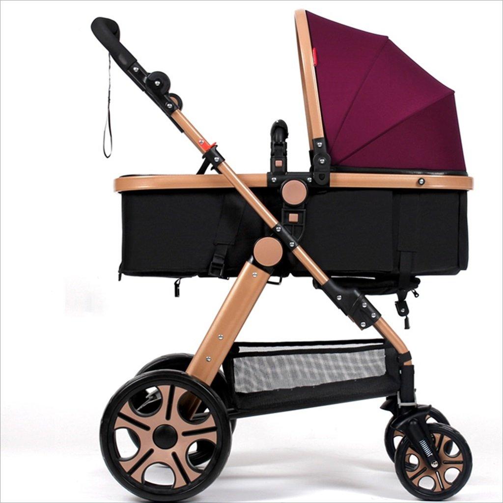 新生児の赤ちゃんキャリッジ折りたたみ可能な座って、1ヶ月のためのダンピングの赤ちゃんカートに落ちることができます 3歳の赤ちゃんの双方向四輪ベビートロリーを振るのを避ける (色 : B) B07DVD1V1L B B