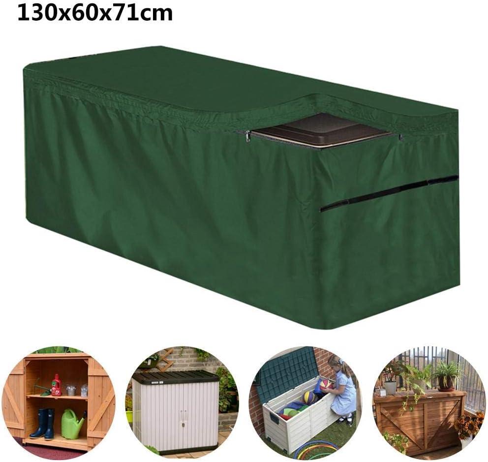 Szseven Patio Premium Garden Storage Box Cover Cubierta De Caja De Almacenamiento Impermeable Al Aire Libre para Muebles De Jardín De Caja De Almacenamiento De Plástico Al Aire Libre, Negro