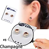 Usstore 1pair Women Lady Chain Crystal Slimming Healthy Acupoints Stud Magnetic Earrings Jewelry Accessories Earring Gift