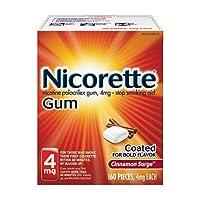 Nicorette 4mg Nicotine Gum to Quit Smoking - Cinnamon Surge Flavored Stop Smoking...