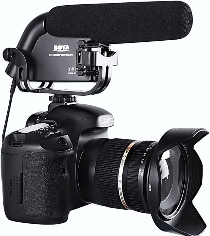 Boya BY-VM190 Unidireccional Microfono de Condensador para Camara ...